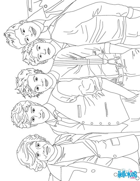 coloring pages for one direction 1d coloring pages hellokids