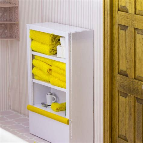 Bathroom Storage Accessories Miniature Wooden Bathroom Cabinet With Accessories Craft Supplies Sale Sales