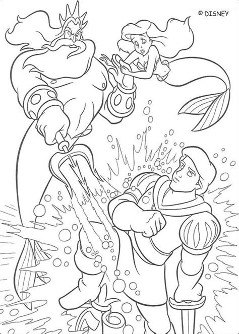 little mermaid king triton coloring pages triton is angry coloring pages hellokids com