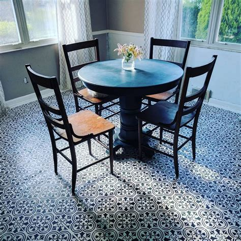 Stenciled Dining Room Table Stenciled Dining Room Table Stenciled Dining Room Table