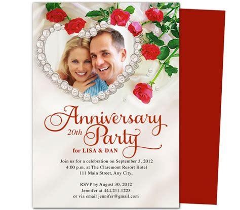 Wedding Anniversary Invitation Card Template by Frame Anniversary Invitation Template 25th 50th