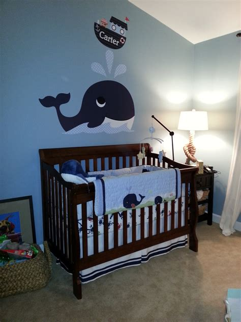 Whale Design Baby Bedding Nautical Baby Room Inspired By Giuliana Rancic S I