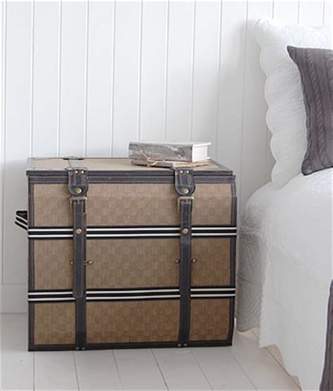 Bedroom Trunks Uk Vintage Luggage Trunk Bedside Table With Storage From The