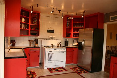 red kitchen cabinets ideas create stunning space with red kitchen cabinets my