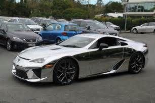 lexus lfa supercar covered in chrome autotribute