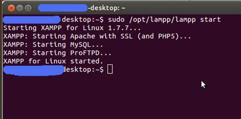 tutorial ubuntu command line operate xampp in ubuntu using command line php