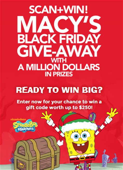 Sweepstakes With Lots Of Prizes - macy s black friday give away 72 520 prizes up for grabs