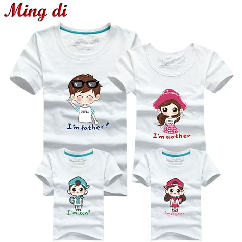 Matching Shirts In Stores Aliexpress Buy Ming Di New 2017 Family Matching
