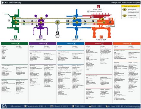 houston texas airport terminal map houston airport map my