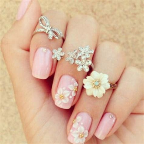 Nail Accessories by Nail Accessories Nails Flowers Girly Pink Pink