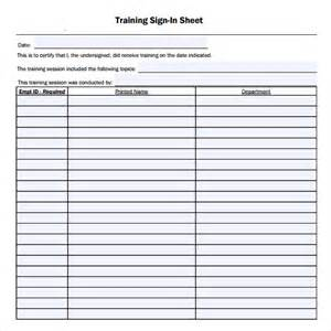 training sign in sheet 16 free samples examples amp formats