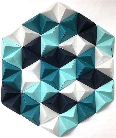 Geometric Paper Folding - diy geometric paper wall paper walls paper folding