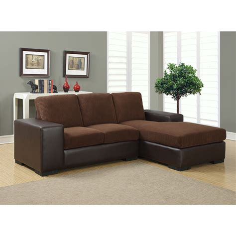 Corduroy Sectional Sofa Jacob Sectional Sofa Modern Sectional Sofas In Brown Corduroy