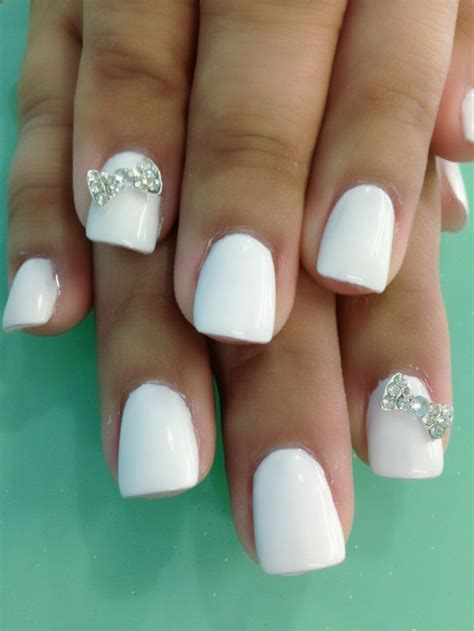 Nail Designs On White Nails white gel nail designs how you can do it at home