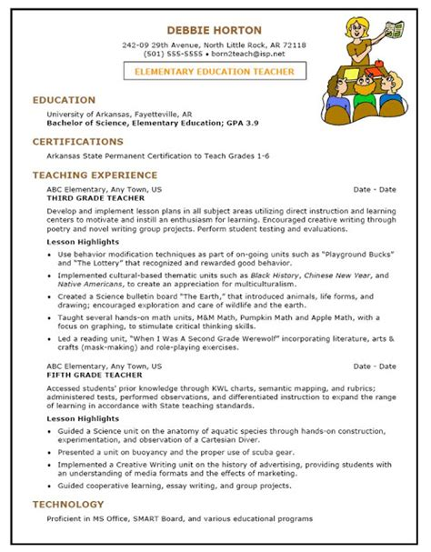 Resume Template For Early Childhood Sle Resume For Early Childhood Sle Resumes