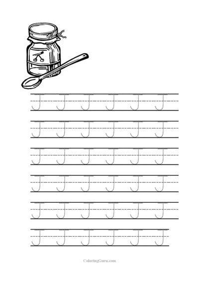 printable tracing letter j free printable tracing letter j worksheets for preschool