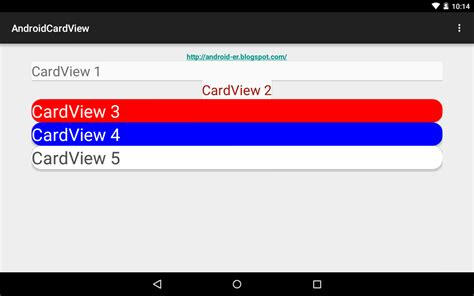 Android Cardview by Android Er Android Cardview Exle