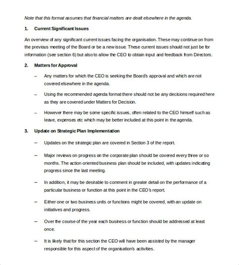 report to board of directors template 44 report templates free sle exle format free