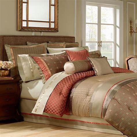 rust bedding waterford bogden king comforter bogden multi rust olive