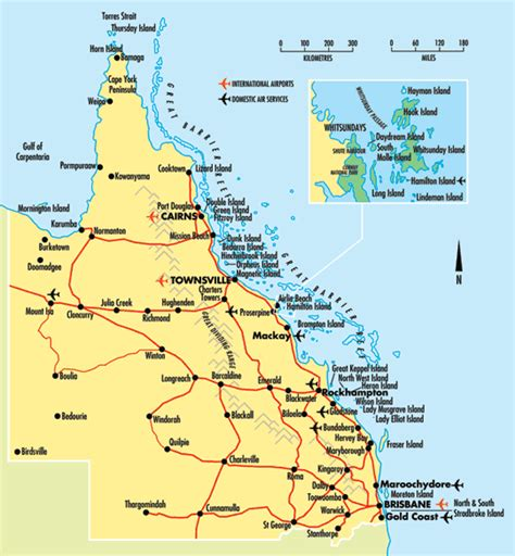 map of queensland australia map of queensland at wottodo au