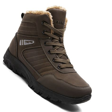 Sepatu Poham Casual Suede 02 39 43 brown 43 casual winter warm rubber trend for fashion lace up cotton suede ankle boots