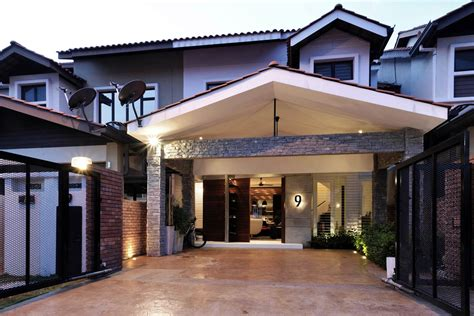 home exterior design malaysia alam impian terrace house treated with a contemporary