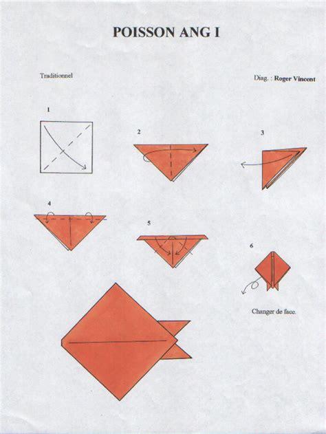 Le Origami - origami tous les poissons d avril teret arts le