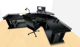 Large Black Office Desk Second Marketplace Led Midnight Black Corner Office