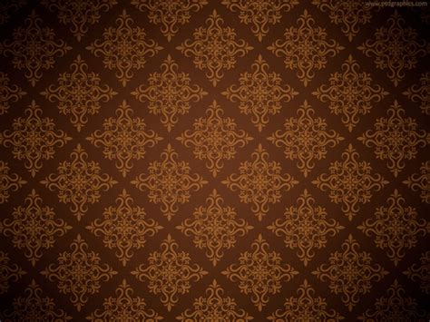 Simple Pattern Brown | brown floral background psdgraphics