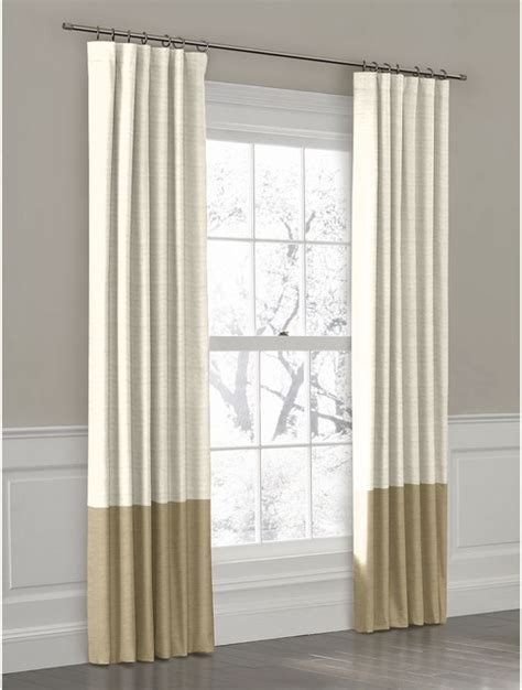 2 tone curtains double bracket drapery rods