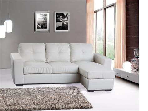 Modern Corner Sofa Uk Modern Corner Sofa Suite Bonded Leather White Black Homegenies