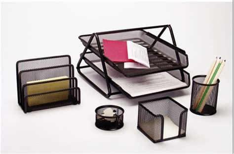 office desk accessories set stationery set desk set mesh office set desktop