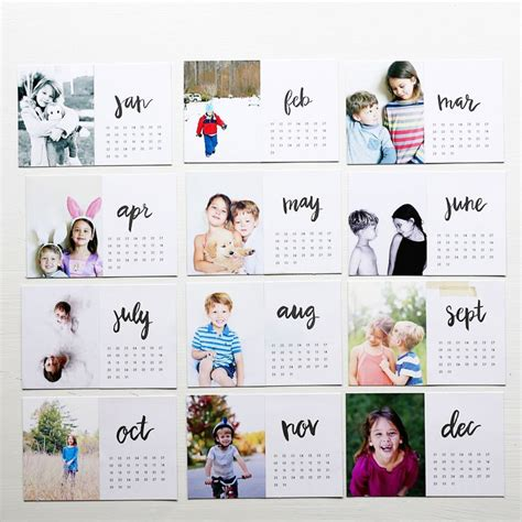 make own calendar with pictures 25 best ideas about photo calendar on scrap