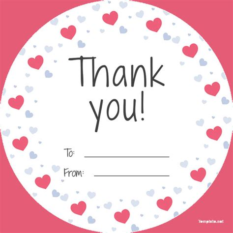 Thank You Card Tag Template by 26 Favor Tag Templates Free Sle Exle Format