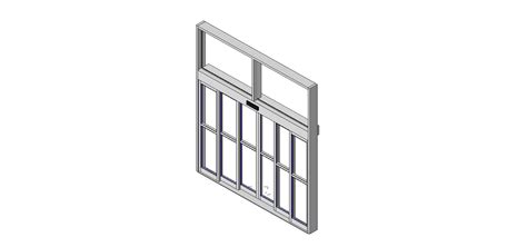 door in curtain wall bim objects families