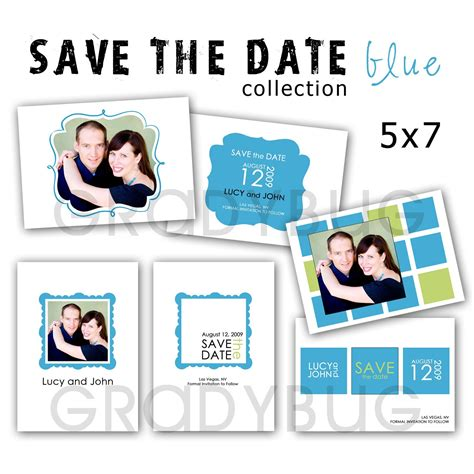 save the date templates for photographers save the date blue collection templates for photographers