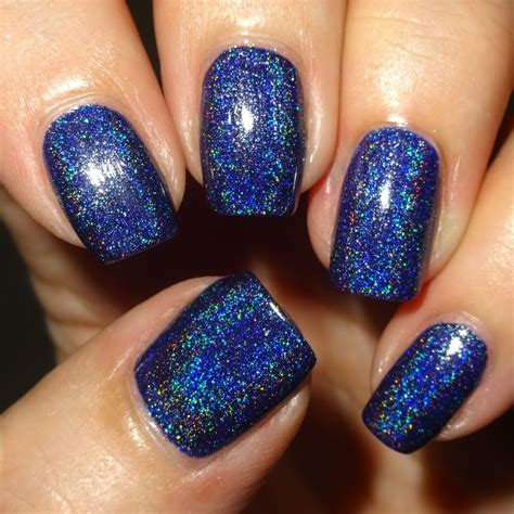wendy s delights navy blue holographic nail from born pretty store