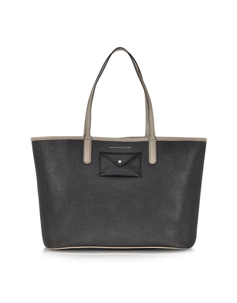Purse Deal Marc Leather Shopper Tote by Lyst Marc By Marc Metropolitote Two Tone Tote 48