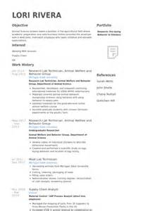 Sle Resume For Lab Technician by Lab Tech Resume Resume Format Pdf