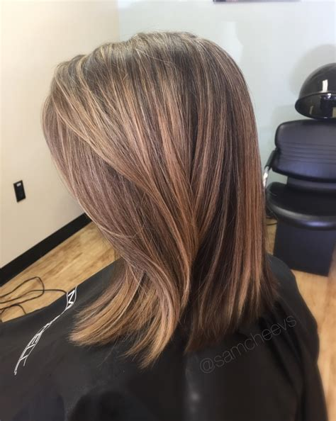 hairstyles foil highlights partial foil for brown hair blonde honey caramel
