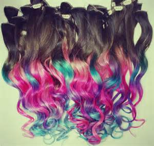 clip in colored hair extensions ombre dip dyed hair clip in hair extensions tie dye tips
