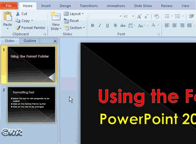 format video powerpoint how to format text with powerpoint 2010 format painter