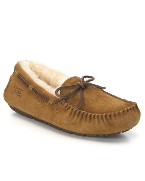 ugg slippers moccasins ugg dakota moccasin in brown lyst