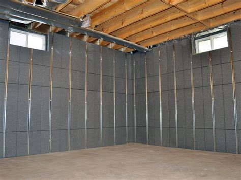 studding a basement basement insulation energy efficiency products