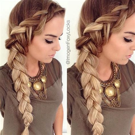 braided hairstyles side lovely side braid