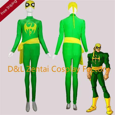 Sale Iron Spandex aliexpress buy free shipping dhl green and yellow lycra marvel comics iron