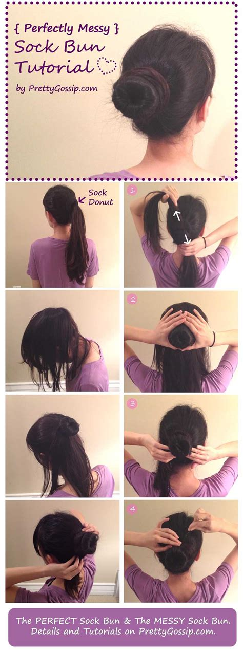 how to do diy sock hair buns with bows tutorial the perfectly messy sock bun pretty gossip