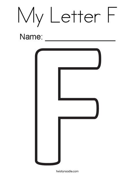 My Letter Y Coloring Page by My Letter F Coloring Page Twisty Noodle