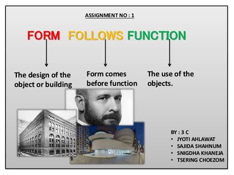 design form follows function form follows function