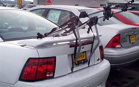 Bike Rack Spoiler by Trunk Mount Bike Rack For A 2000 Ford Mustang Gt With
